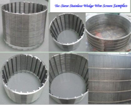 Tec-Sieve Stainless Steel Wedge Wire Cylindrical Screen