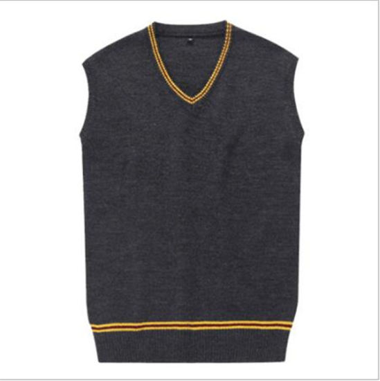 Kids Boys Long Sleeve School Uniform Sweatshirt Mens Plain V Neck Casual Jumper