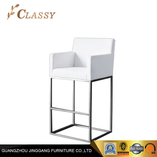 White Non-Woven Fabric Kitchen Room Counter Stool Bar Chair