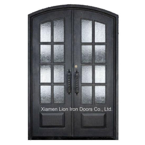 China Custom Exterior Steel Security Entrance Doors Iron Front Door