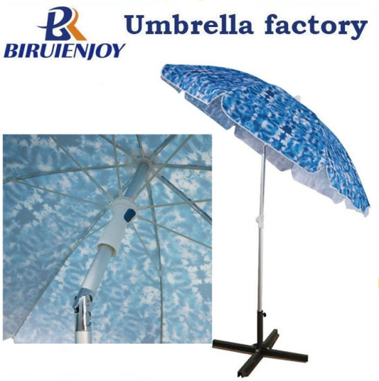 Custom Made Printing Promotional Advertising Outdoor Sun Parasol Beach Umbrella