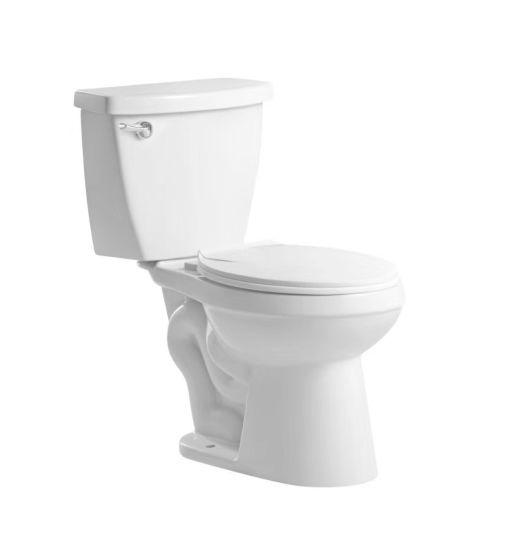 8219b Small Toilet, Siphonic Round Two Piece Toilet, Loza Sanitarios, Inodoro,