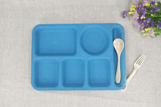 Customized Made Bamboo Fiber Kids Plate, Bamboo Tray for Kids