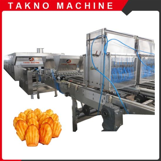 Newly Designed Full Automatic Custard Cake Making Machine for Industrial