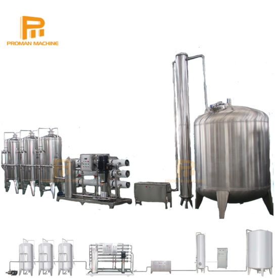 500L 1000L, 2000L 3000L, 5000L Automatic Stainless Steel Filter Reverse Osmosis Water Treatment Machine with Soft Filter