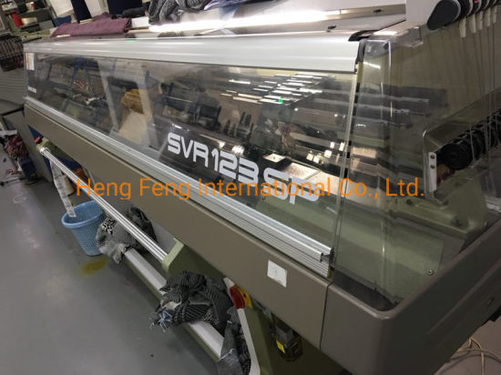 Used Shima Sriki SVR123sp 14G, Year 2018 Fully Fashioned High-Speed Knitting Machine Sweater Machine in Excellent Running Condition for Sale