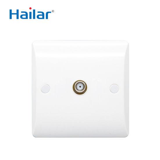 Hailar British Standard White Range 1g Scatellite Socket