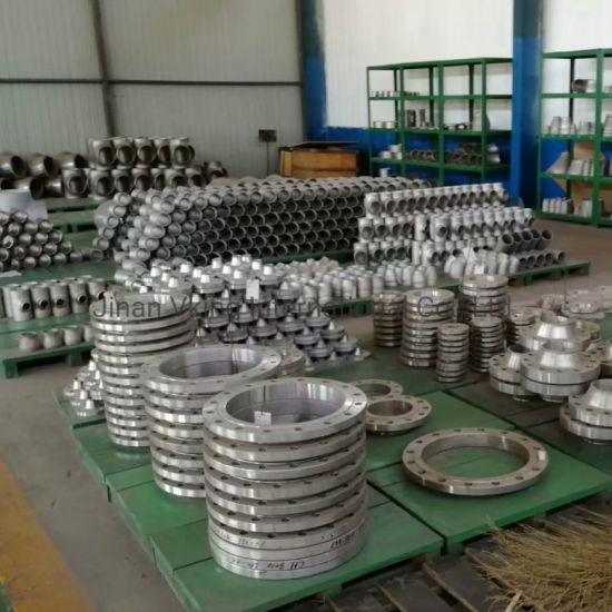 Factory Industrial Pipe Adapter Collar Forged Forging 6 Hole DIN Carbon Steel Plate Flange