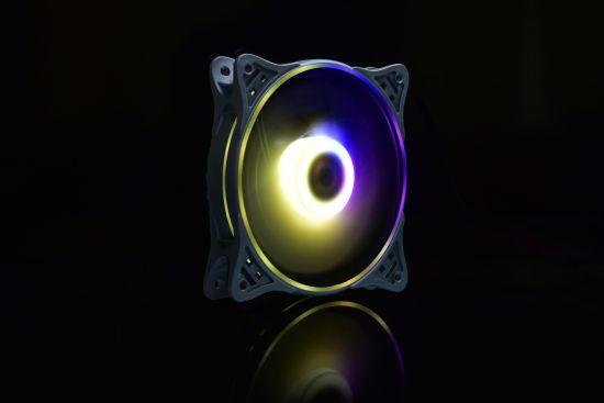 120 PRO 120mm Premium Magnetic Levitation RGB LED PWM Fan with Lighting Node 3 Pack