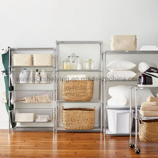 Small Size Living Room Wire Rack, Storage Wire Shelving Unit pictures & photos