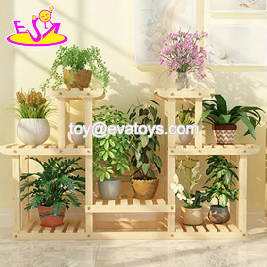 Custom Wooden Movable Outdoor Plant, Outdoor Plant Shelves