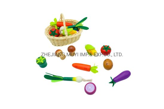 Intellectual Educational Baby Toys for Kids Gift, 23363 Lindatoy Wooden Vegetable Playset