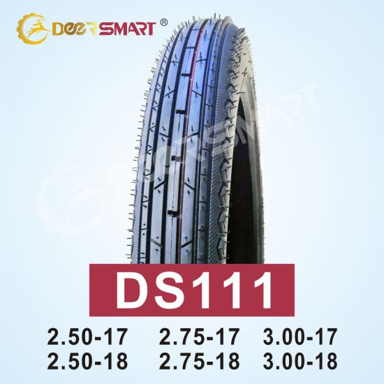 Outstanding Performance Size 2.50-18 Pattern Ds111 Tubeless Motorcycle Tire