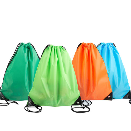 Customized Standard Recycled 210d Polyester Silk Screen Printing Drawstring Bags