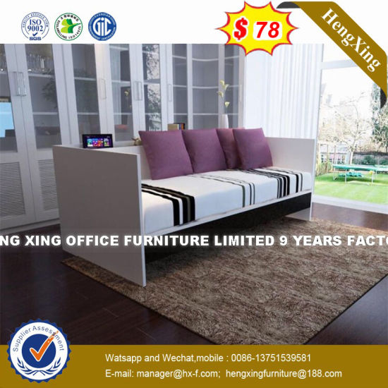 China Simple Design White Color Wood Structure Sofa Bed Hx 8nr1124