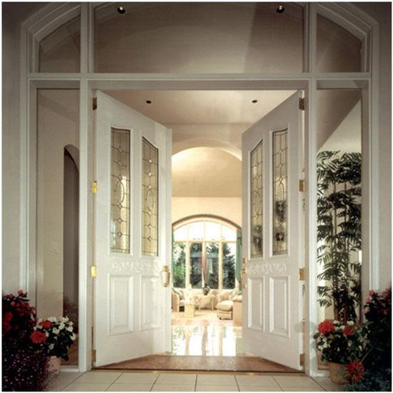 Simple Design Solid Wooden Entrance Door