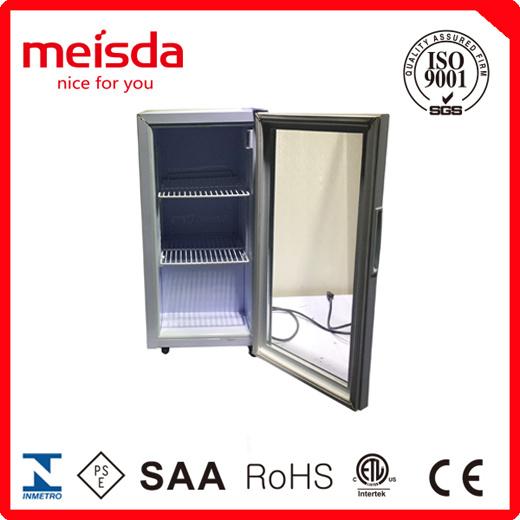 China Glass Door Small Fridge China Countertop Refrigerator Mini