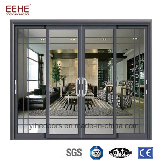 China Interior Commercial Double Glass Doors And Windows Designs