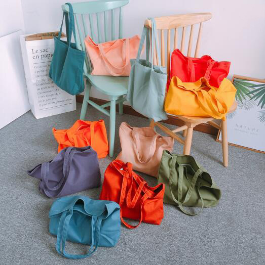 2020 New Cheap Smart Eco Friendly Wholesale Reusable Produce Colorful Organic Cotton Tote Bags
