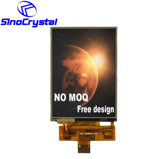 2.4 Inch 240*320 12 O'clock Viewing Angle Spi Interface Ili9341 Driver IC Touch Panel Screen TFT LCD Display LCD
