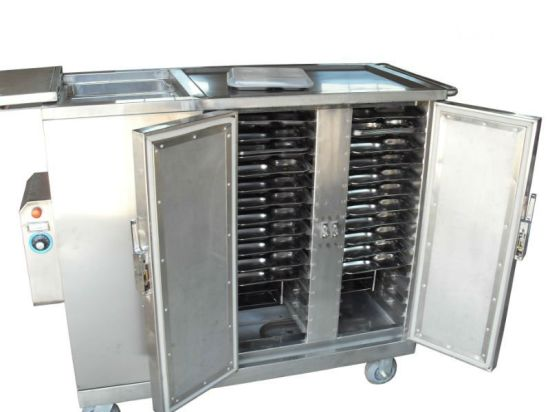 Hospital Stainless Steel Electric Heated Type Insulated Food Trolley pictures & photos
