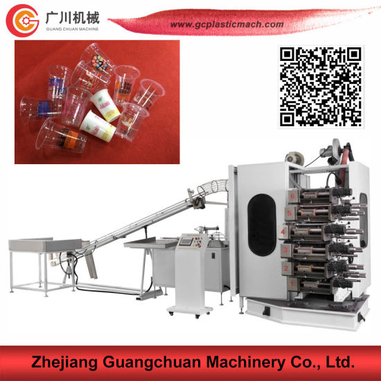 6 Color Plastic Cup Offset Printing Machine