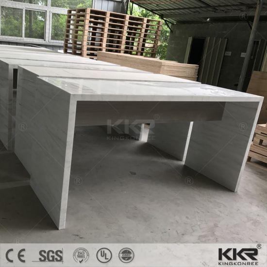 Artificial Marble Custom Made Long Narrow Marble Bar Table