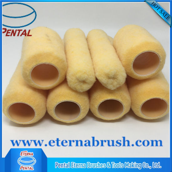 China 4′′6′′&9′′ Paint Brushes and Rollers with Yellow Peach