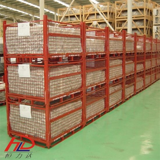Stackable Mesh Container Upright Racking pictures & photos