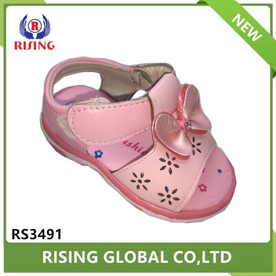 b034e82be China Summer Design Children Fancy Sandals PU Material Simple Girls ...