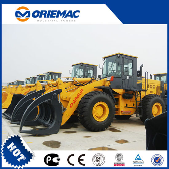 Changlin Zl50h 5 Ton Pilot Control Wheel Loader with Grapple pictures & photos