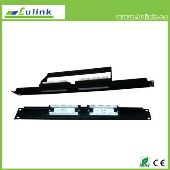 Lk6PP1202u101 CAT6 UTP 12port Patch Panel Wih Bar (Double USE End)