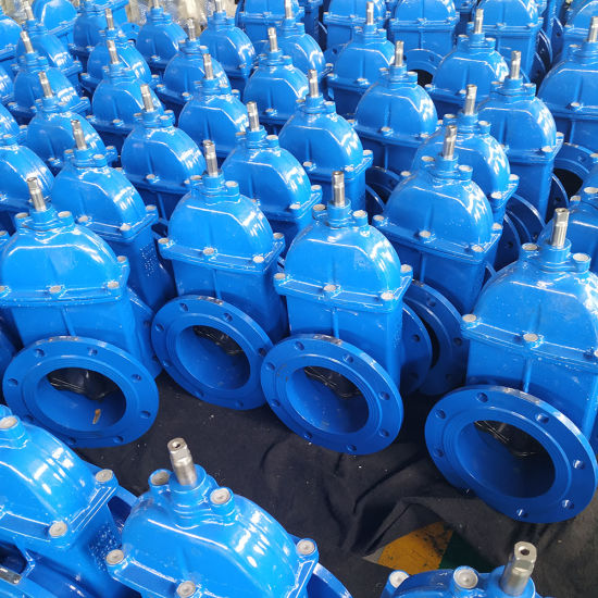 Ductile Iron Resilient Seat DIN3352 DIN3202 F5 Square Nut Direct Buried Gate Valve