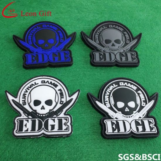 Wholesale Custom Design 3D Rubber PVC Patch with Cutomized Backing