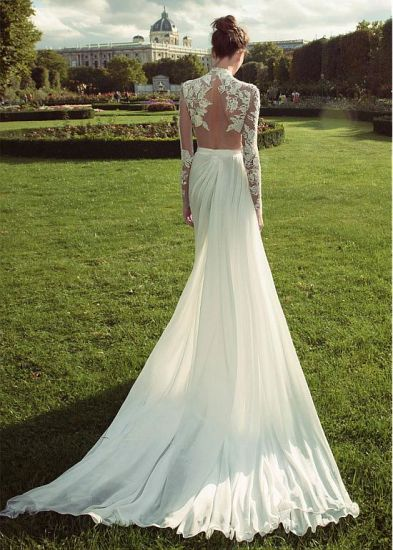 Beading Wedding Dress Long Sleeves Bridal Wedding Gown Ld1163 pictures & photos
