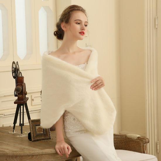 Faux Fur Stoles Bridal Wrap Wedding Accessories Winter Bolero Shwal
