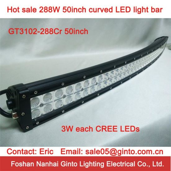 China hot sale cree 288w 50 curved led light bar for offroad hot sale cree 288w 50 curved led light bar for offroad aloadofball Gallery