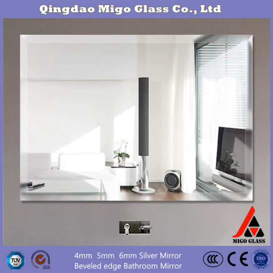 China Supply Frameless Wall Mirror Decorative Glass Mirror Designed Hd Silver Mirror China Bathroom Mirror Vanity Mirror