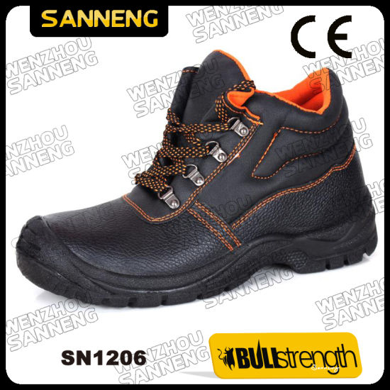 Basic Safety Shoes Man Woman Shoes Industrial Working Shoes Buffalo Leather Safety Shoes (SN1206)