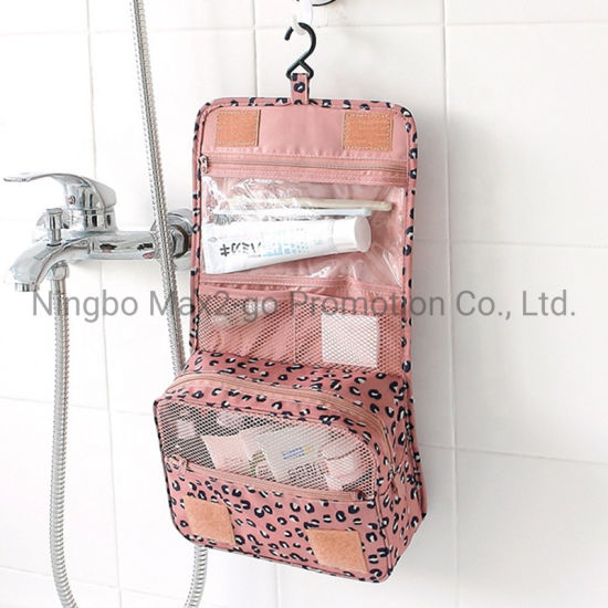 New Designer Washed Canvas Classical Travel Hanging Toiletry Bag Make up Bag Organizers Men and Women Cosmetic Bag