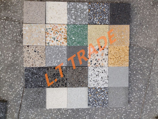 Internal and External Flooring, Cladding, Kitchen and Vanity Tops and Bespoke Uses, Colorful Terrazzo Pavers