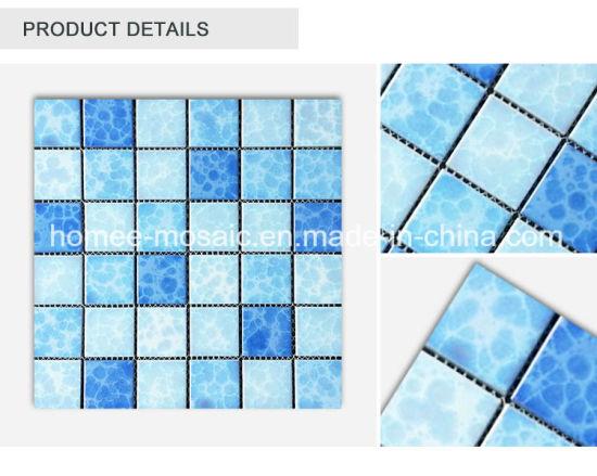 China Cheap Unglazed Ceramic Swimming Pool Porcelain Mosaic Tile