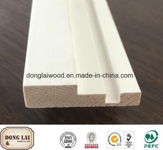 China Decorative Door Jamb MDF Wood Surface Moulding for Villa ...