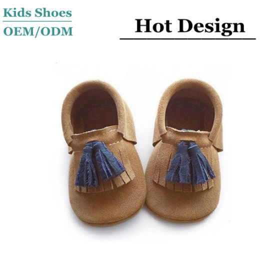 New Baby Shoes Double Fringe Design Soft Sole Children Shoes