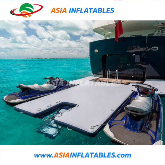 Drop Stitch Material Floating Jet Ski Platform, Inflatable Seabob Dock, Water Platform for Yacht pictures & photos