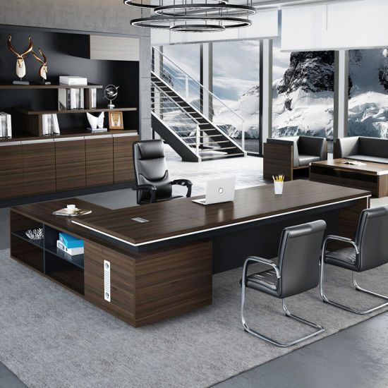 Modern Furniture Wooden Executive Computer Desk Office Table