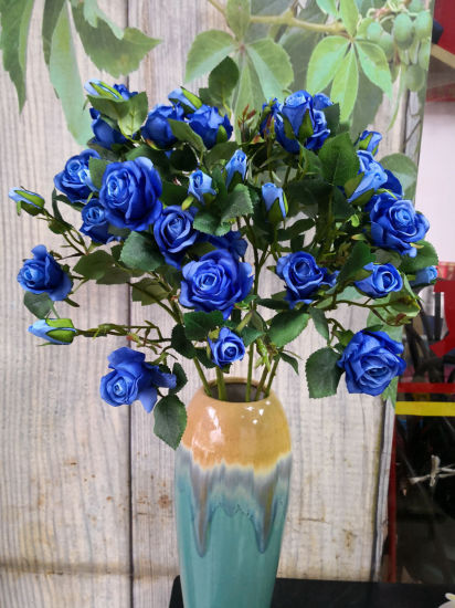 Bouquet 7 Heads Artificial Rose Floral Faux Silk Home Room Party Decor Showy pictures & photos