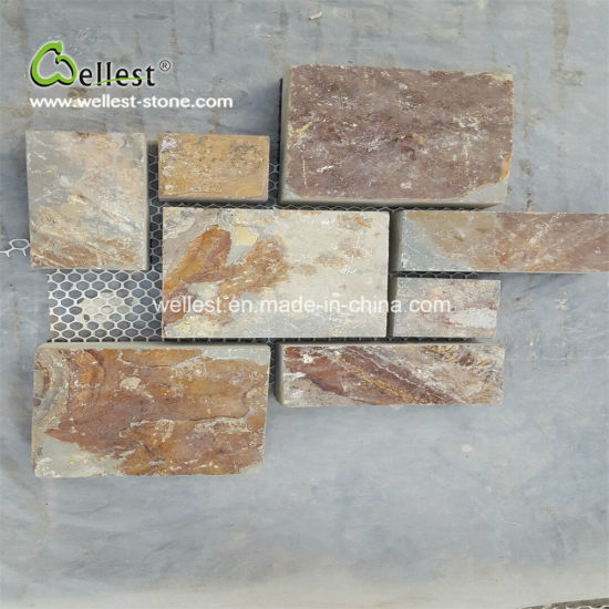 Slate Cube Stone French Patten for Floor Tile and Wall Cladding pictures & photos