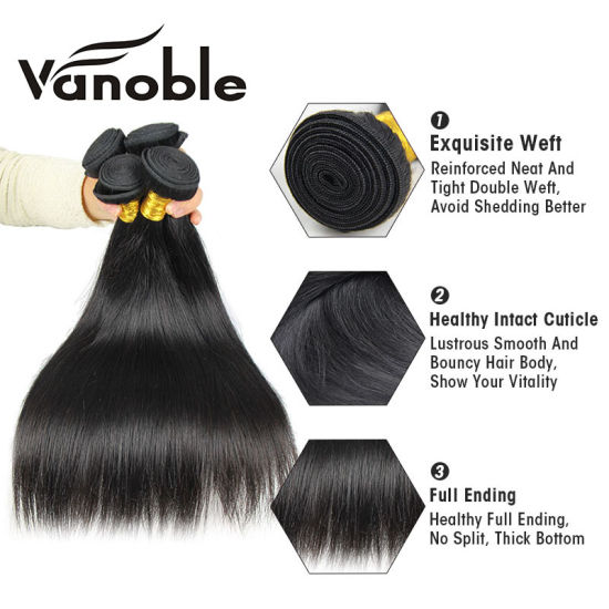 100% Virgin Hair Weave Remy Human Hair Straight Weft