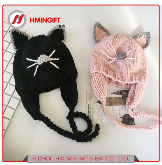 China Children Cat Ears Wool Hat Baby Autumn And Winter Thick Warm